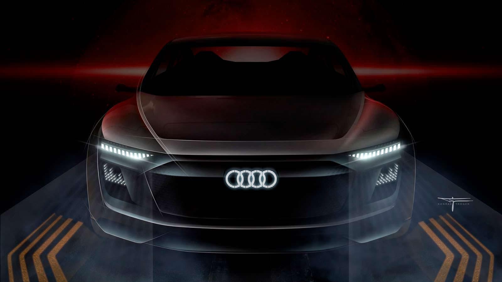 Логотип Audi со светодиодной подсветкой