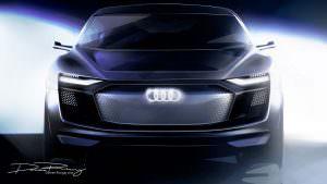 Тизер Audi E-Tron Sportback Concept