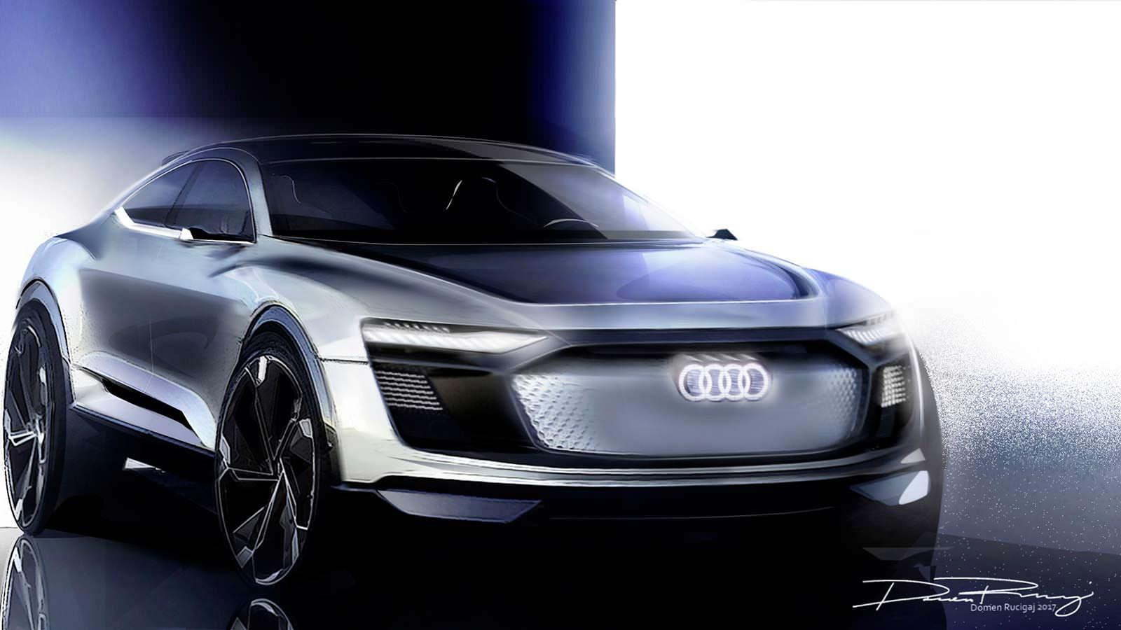 Кроссовер Ауди E-Tron Concept Sportback рассекречен наизображениях допремьеры