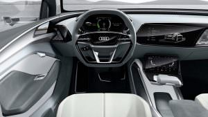 Салон Audi E-Tron Sportback Concept 2017