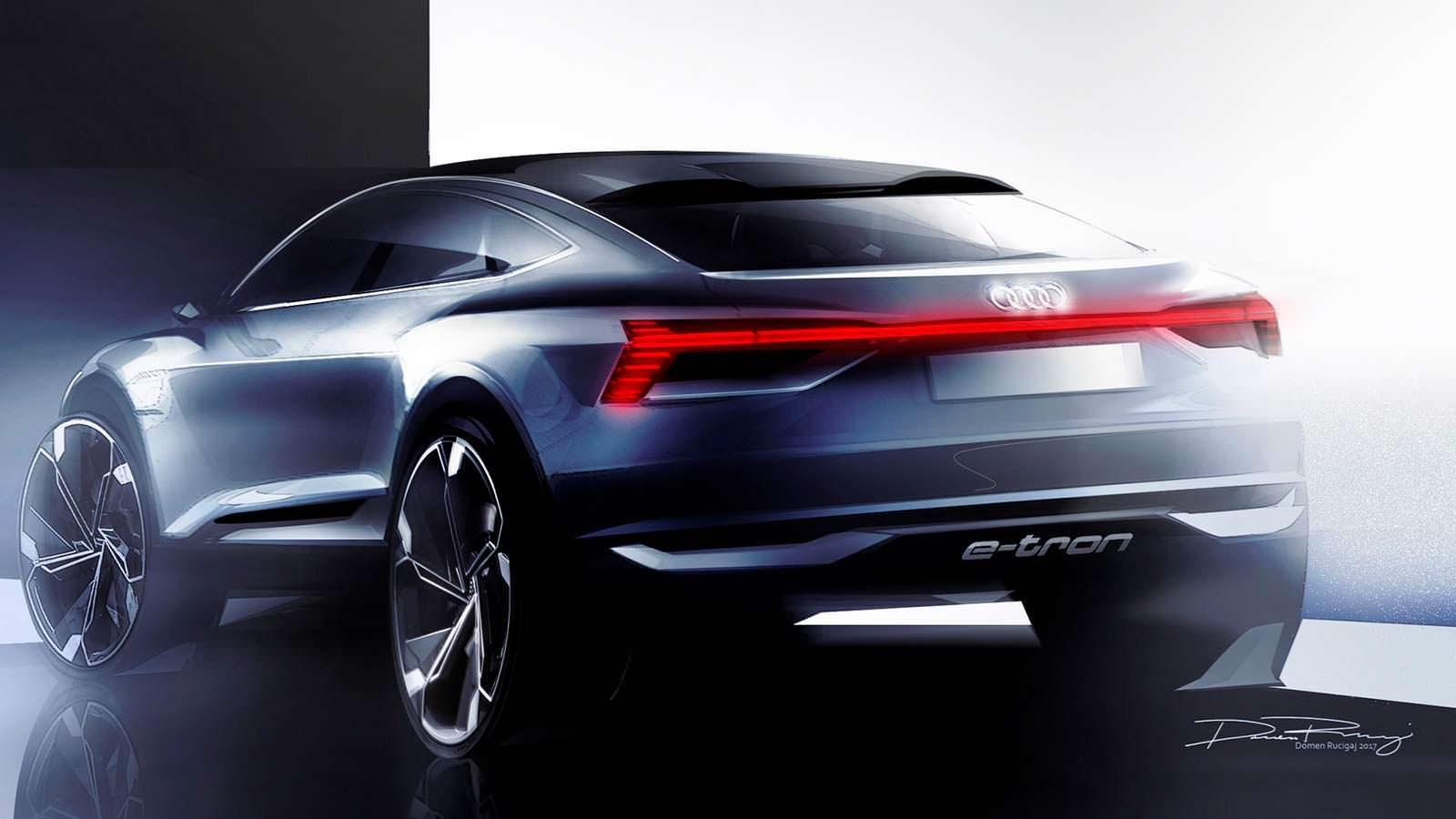 Audi готовит премьеру концепта кроссовера E-Tron Sportback вШанхае