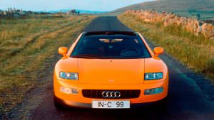 Фото | Оранжевая Ауди Quattro Spyder