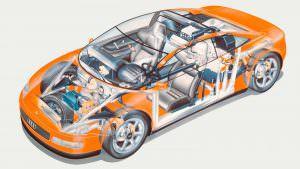 Фото   Конструкция Audi Quattro Spyder