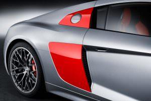 Фото | Красные воздухозаборники Audi R8 Audi Sport