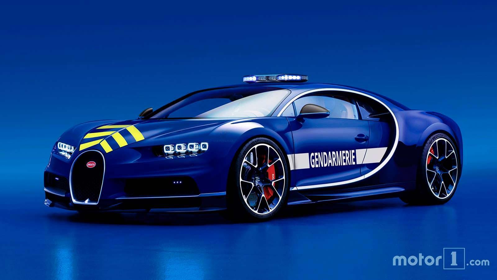 Полицейский Bugatti жандармерии Франции
