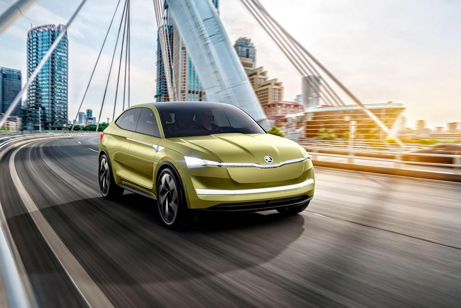 Электрический купе-кроссовер Skoda VisionE
