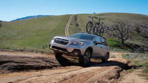 Фото | Subaru Outback с багажником велосипедами на крыше