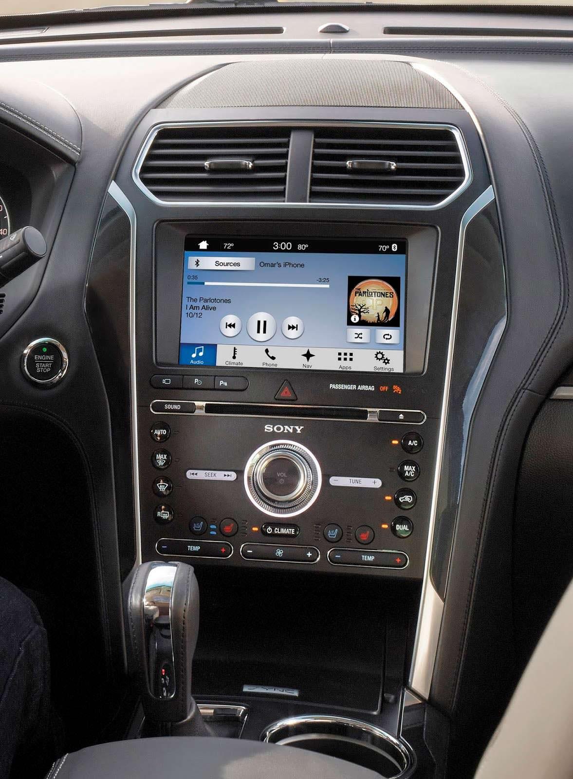 Фото | Мультимедийная система Sony в Ford Explorer 2018 года