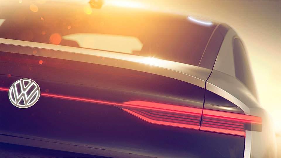Тизер электрического купе-кроссовера VW I.D.