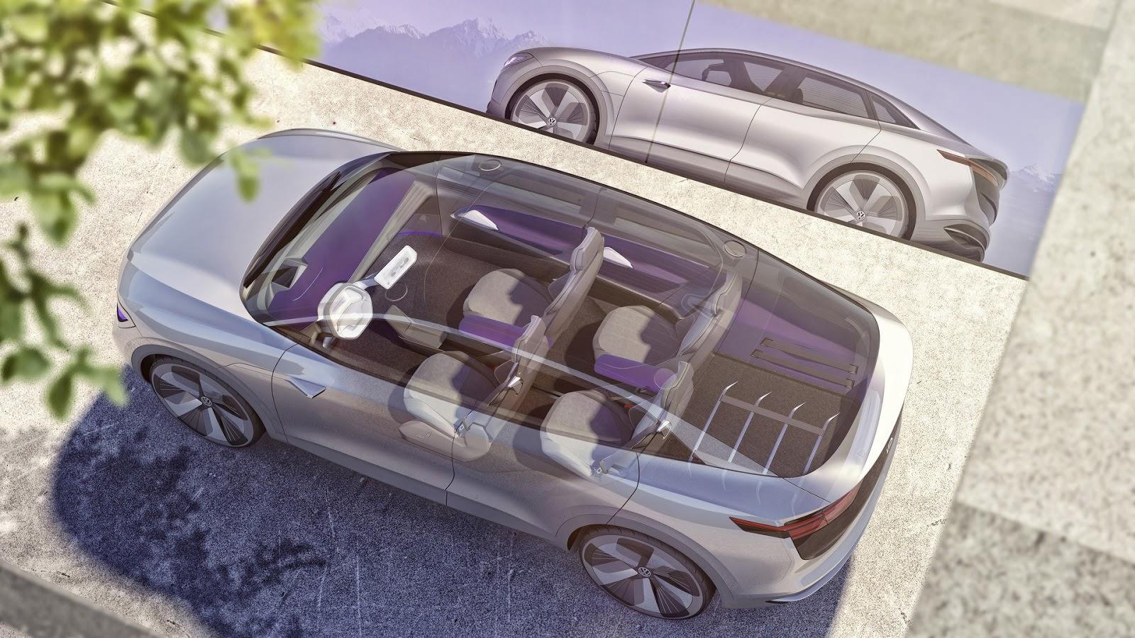 Кроссовер со стеклянной крышей Volkswagen I.D. Crozz