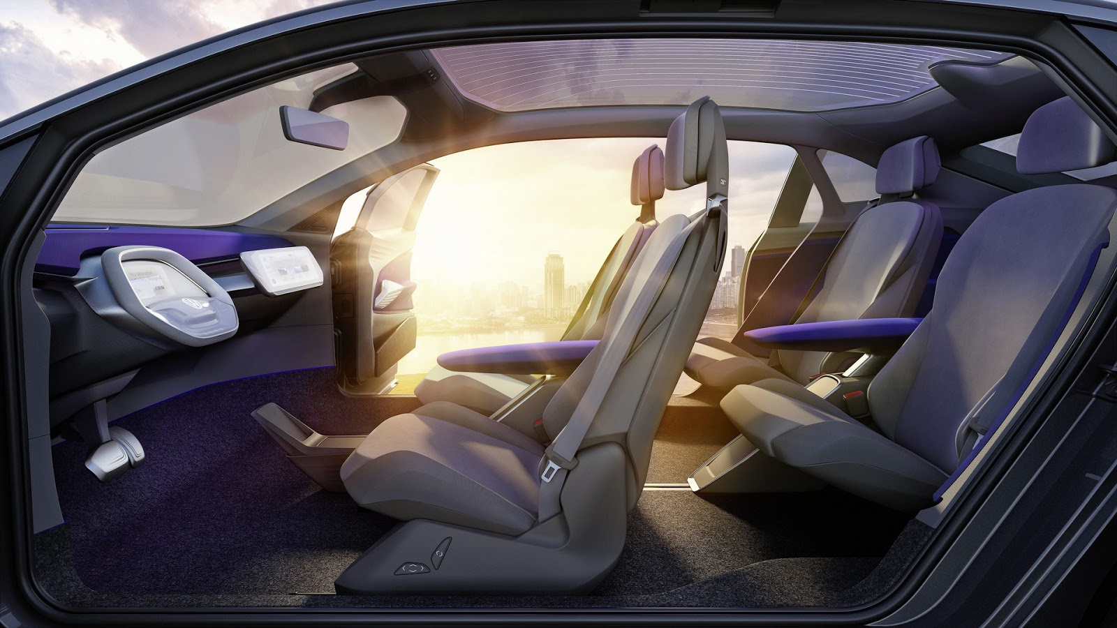 Интерьер Volkswagen I.D. Crozz Concept
