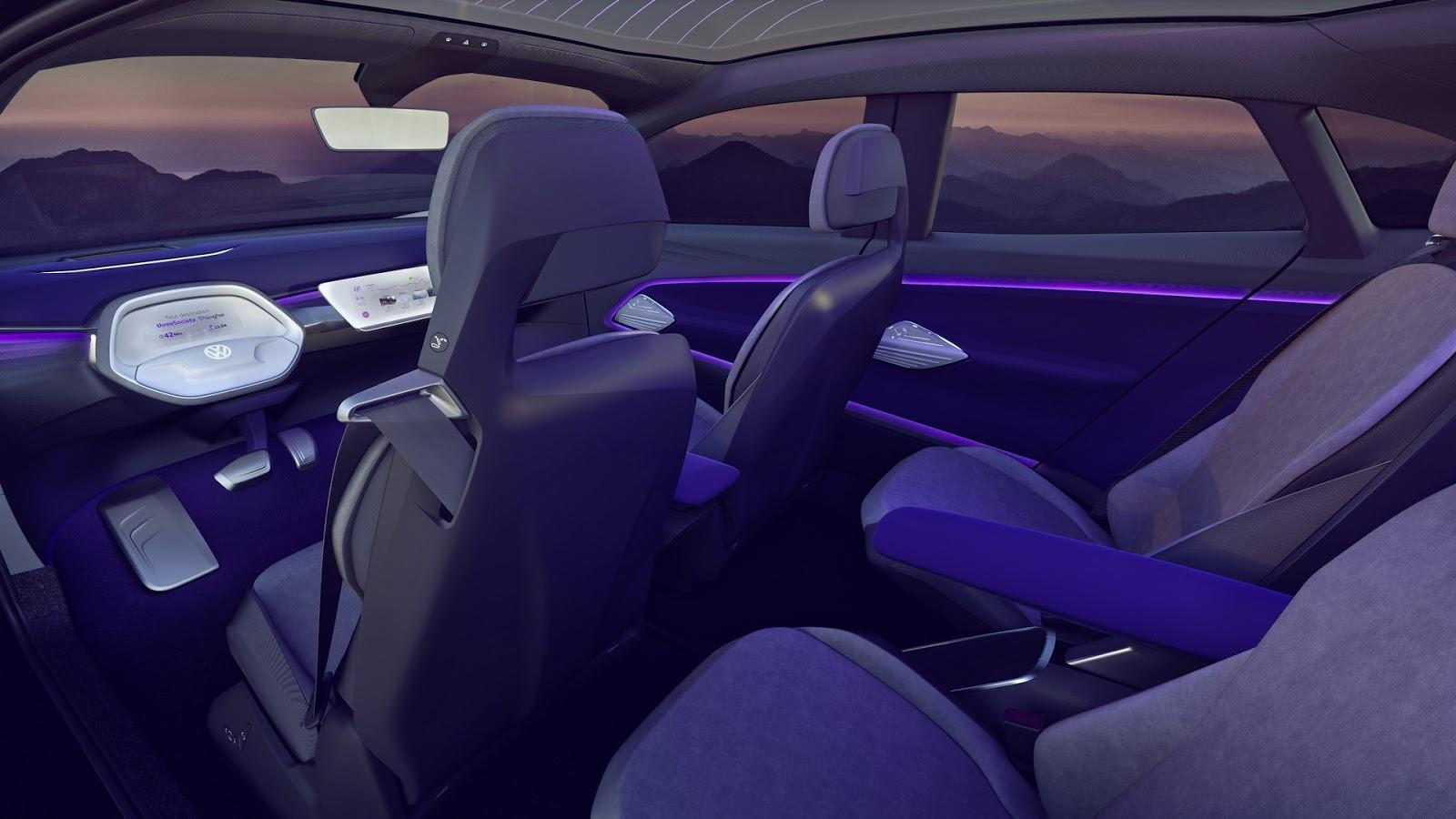 Дизайн салона Volkswagen I.D. Crozz Concept