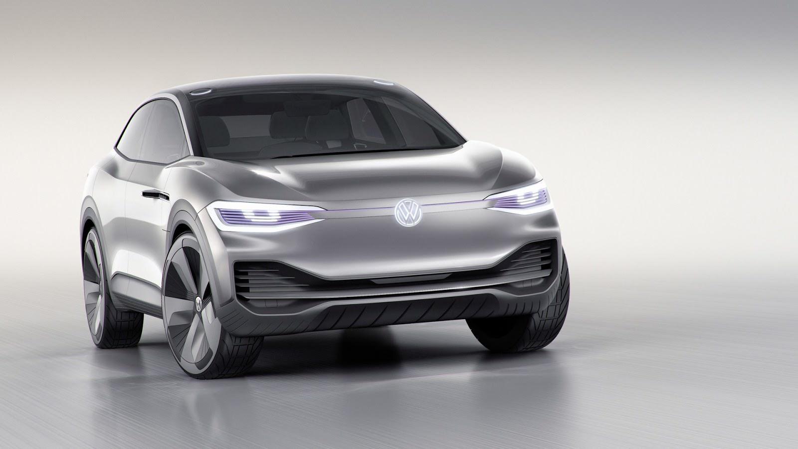 Электрический кроссовер Volkswagen I.D. Crozz Concept 2017