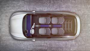Четырехместный салон Volkswagen I.D. Crozz Concept 2017