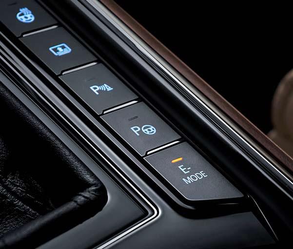 Режим работы E в Volkswagen Phideon PHEV