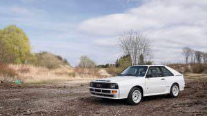 Белая Audi Sport Quattro 1984 года выпуска
