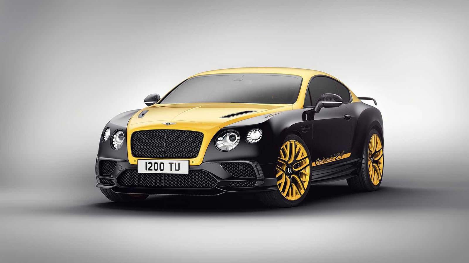 Фото   Жёлто-чёрный Bentley Continental 24