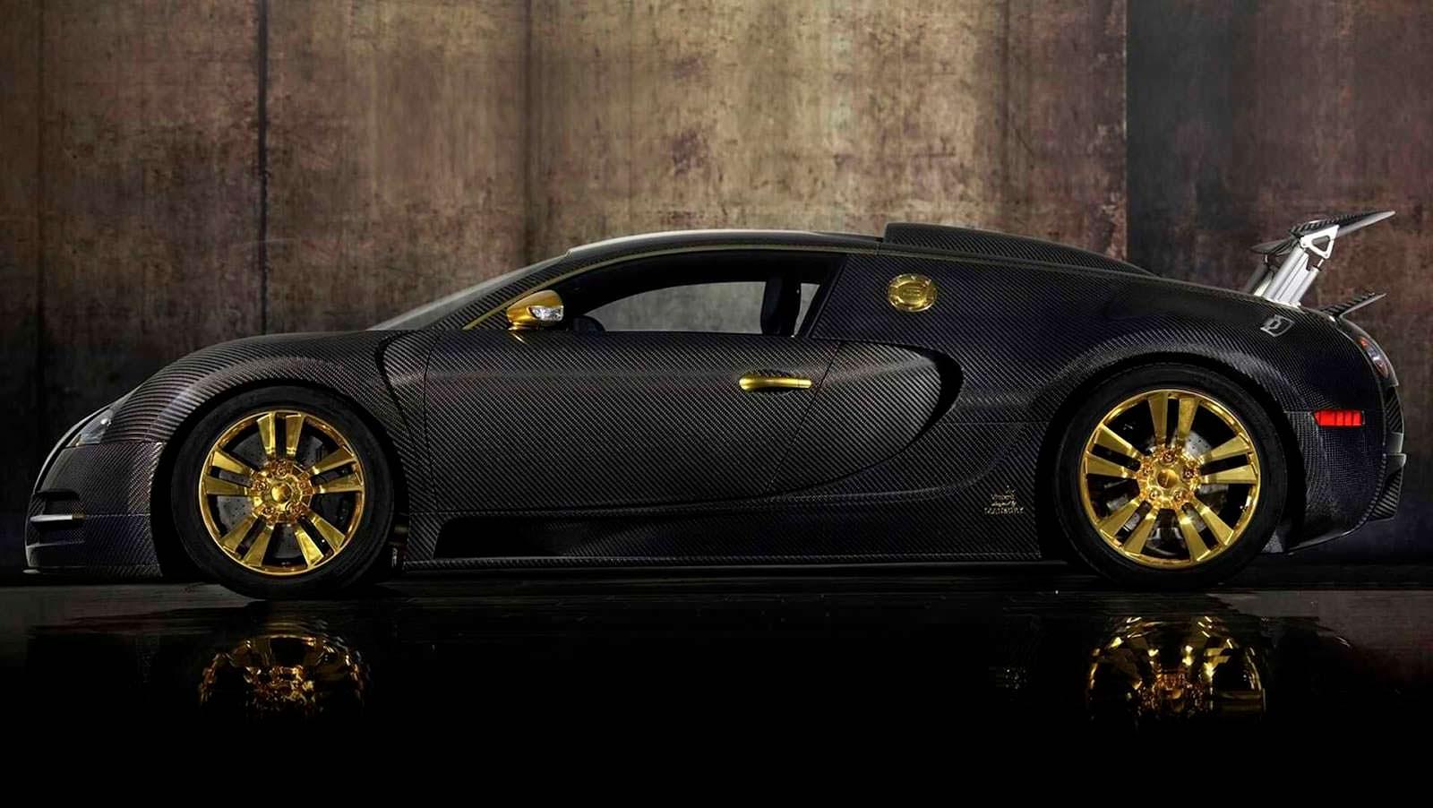 Тюнинг Bugatti Veyron Mansory Linea Vincero карбон и золото