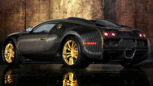 Bugatti Veyron Mansory Linea Vincero на золотых колесах