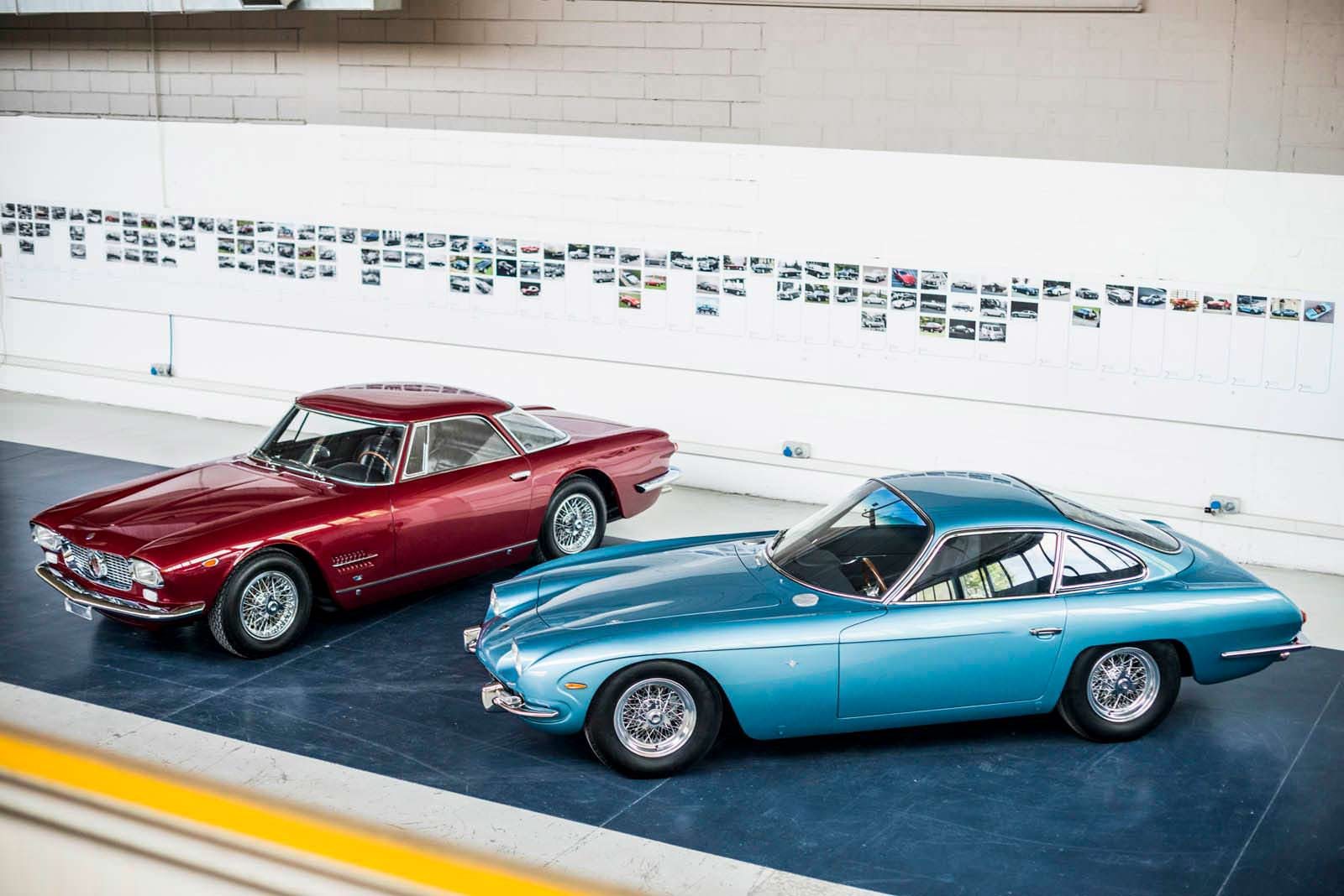 Раритетные Maserati 5000 GT и Lamborghini 350 GT