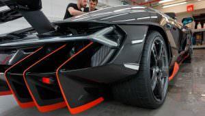 Массивный диффузор Lamborghini Centenario LP770-4