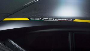 Надпись на кузове Centenario