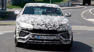 Lamborghini Urus на тестах в Нюрбургринге