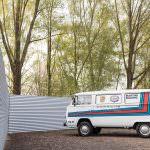 Volkswagen T2 Transporter Martini Racing 1977 года выпуска