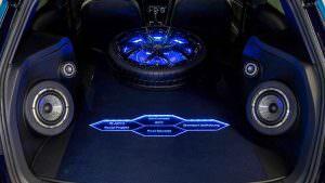 Запаска и колонки в багажнике VW Golf GTI First Decade