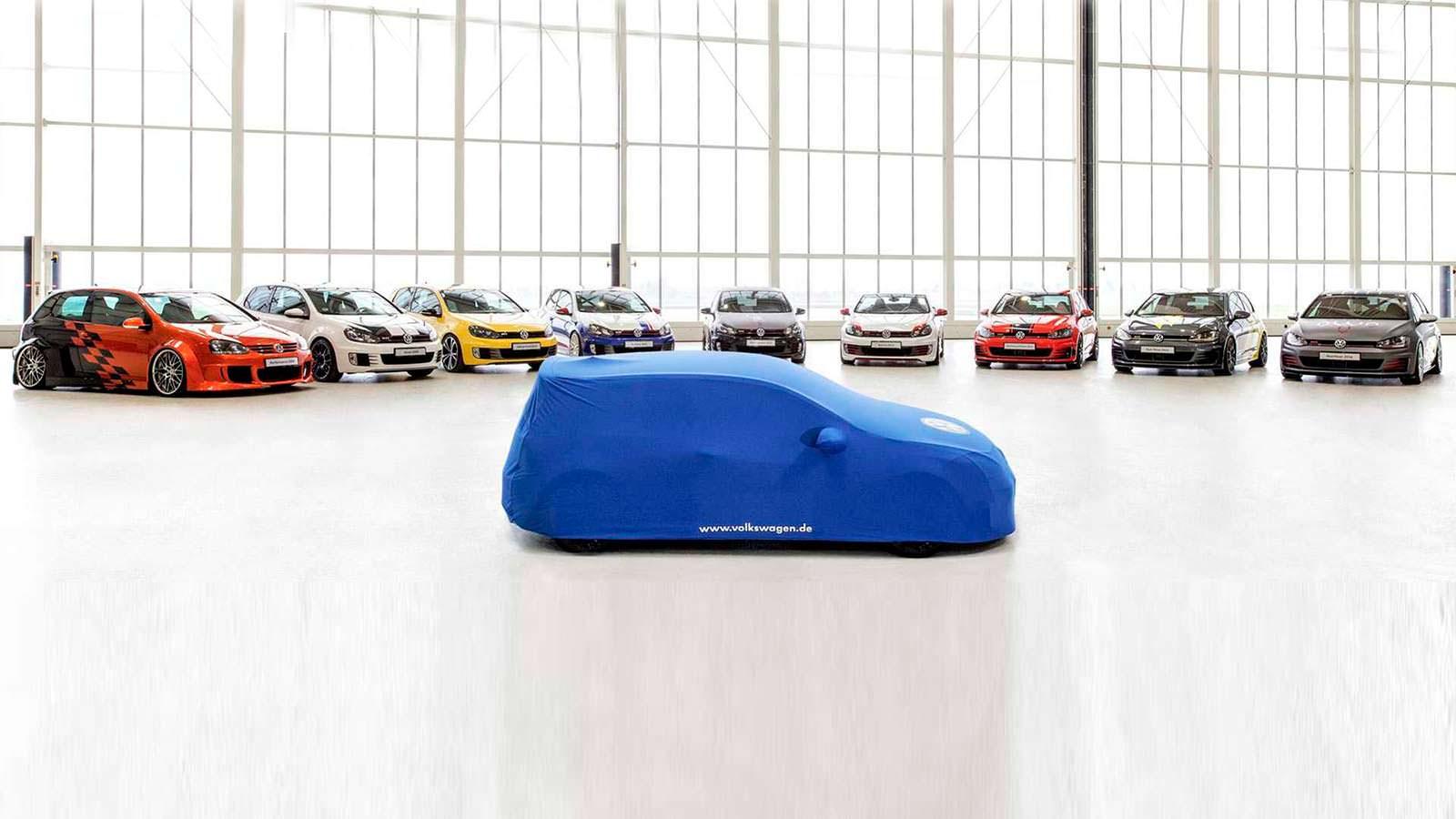 VW обнародовал новый тизер концепта Golf GTI Worthersee