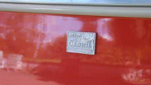 Оранжевый кузов Volkswagen T1 Samba 1959 года выпуска