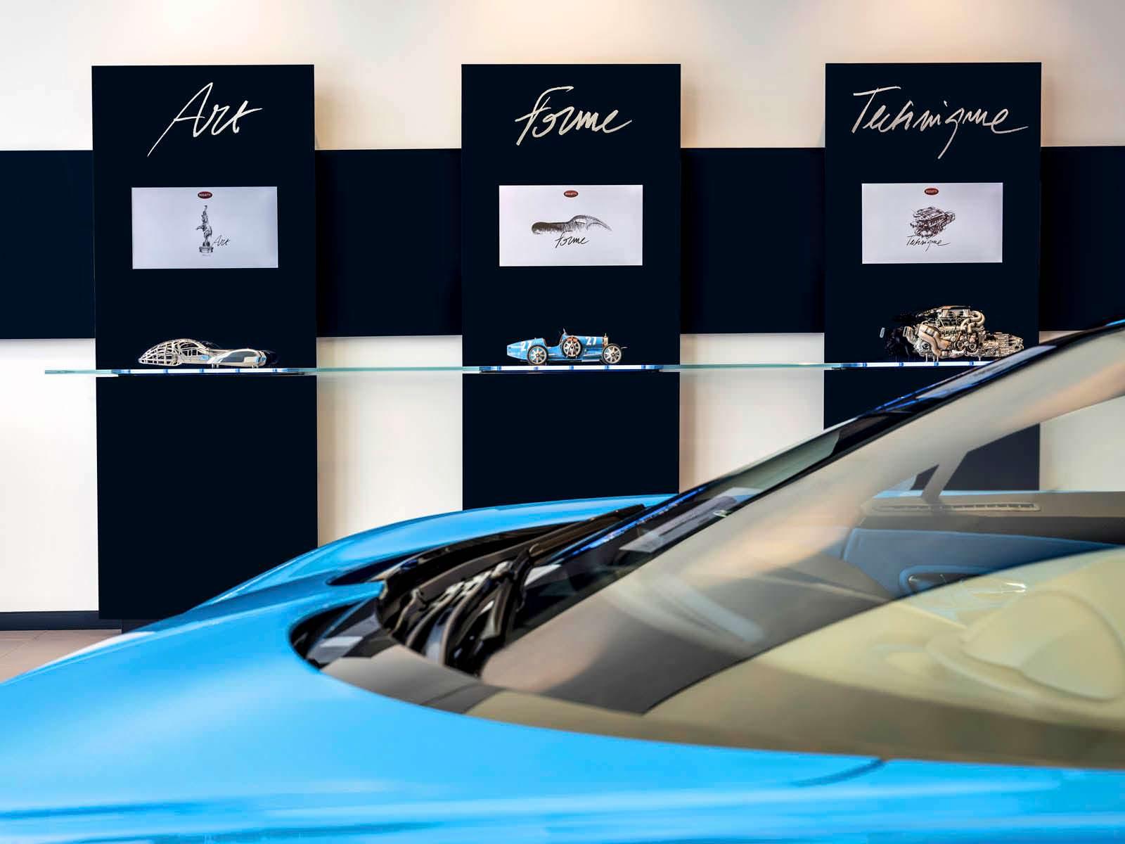 Самый большой выставочный зал Bugatti в Дубае, ОАЭ