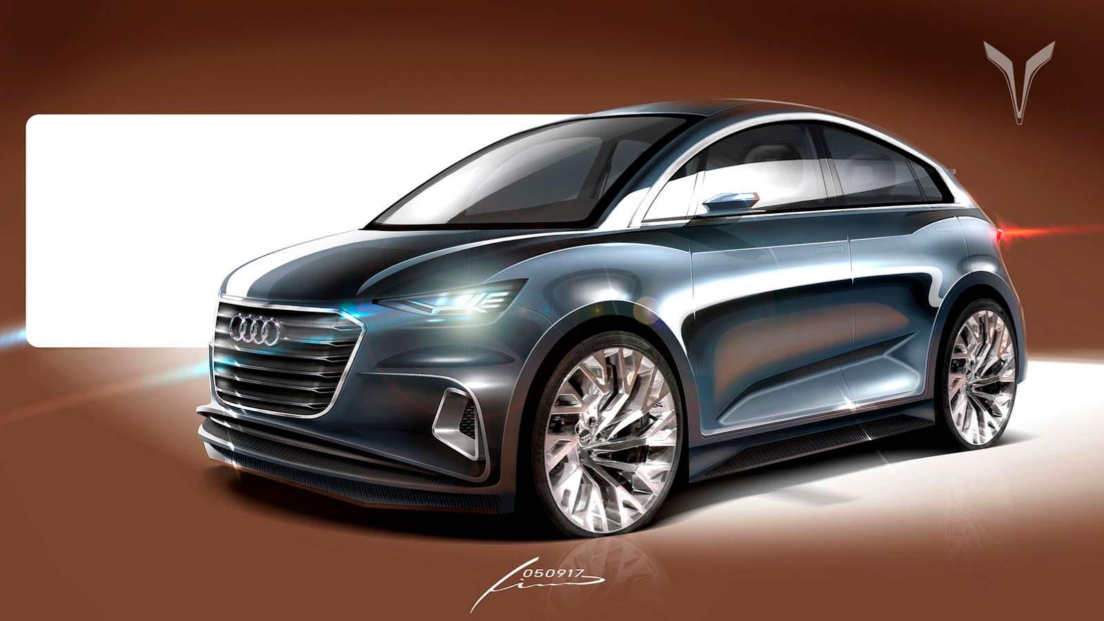 Audi A2 второго поколения. Неофициальный дизайн Pino Cazzetta