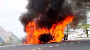 Огонь полностью уничтожил Audi A7 Sportback 2019