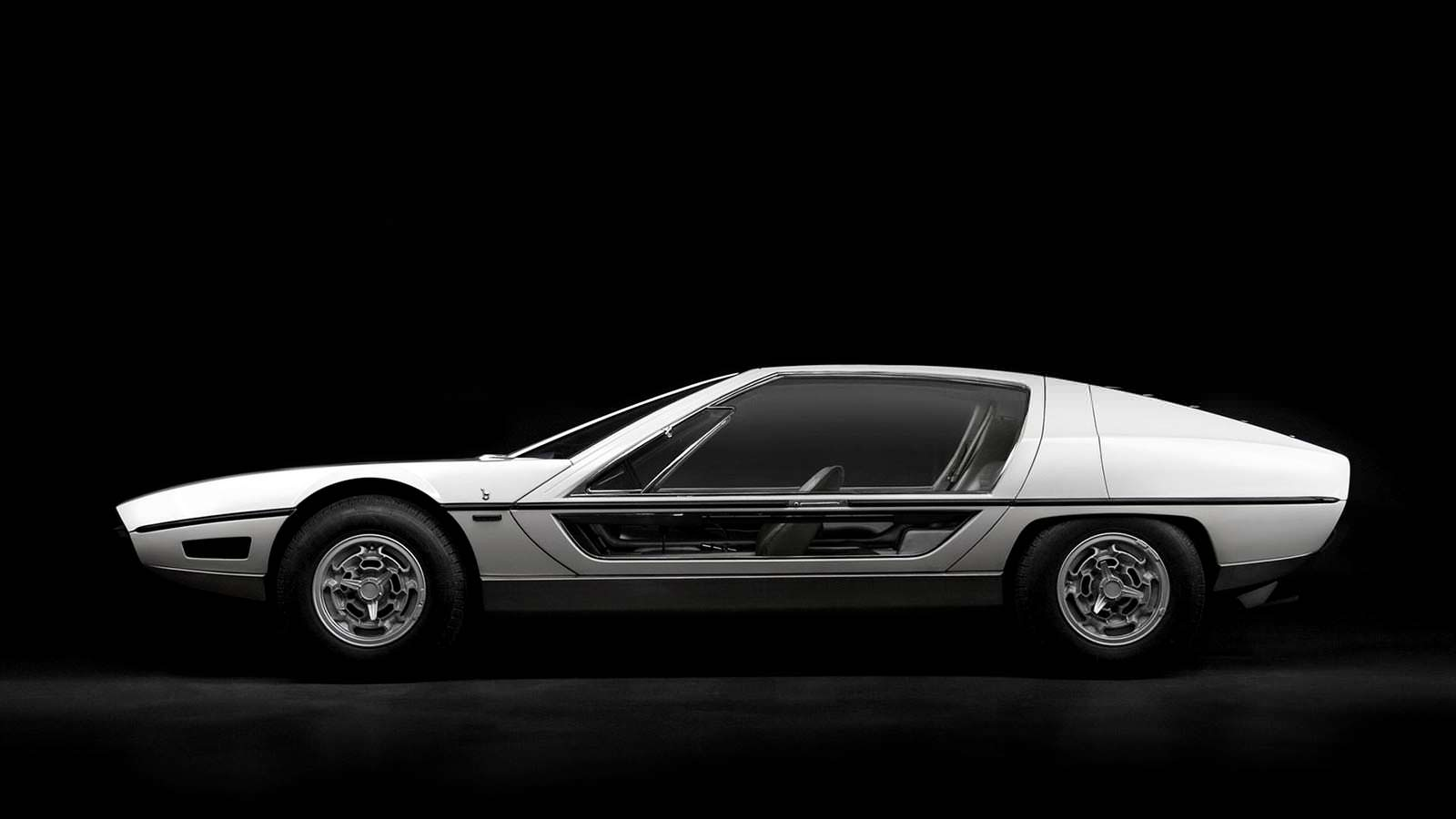 Lamborghini TP200 Marzal. Стеклянные двери крылья чайки