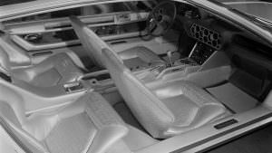 Фото салона Lamborghini Marzal 1967 года