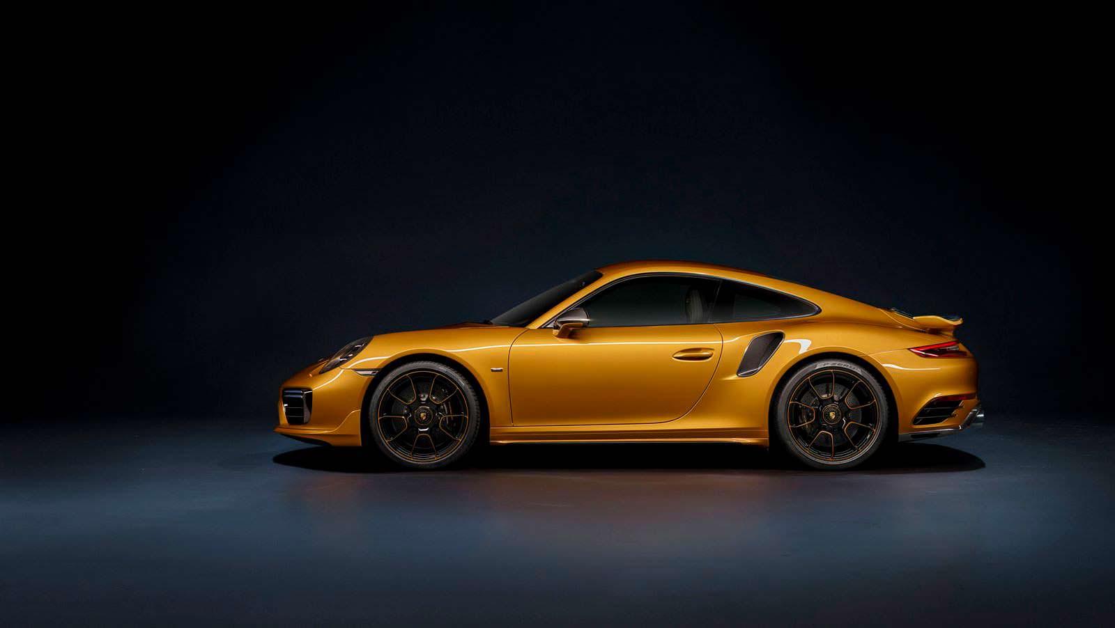 Porsche 911 Turbo S Exclusive Golden Yellow