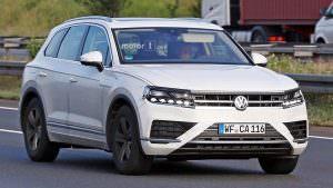 Шпионские фото 2018 Volkswagen Touareg на испытаниях