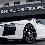 Фото | Белый Audi R8 Spyder. Тюнинг от Wheelsandmore