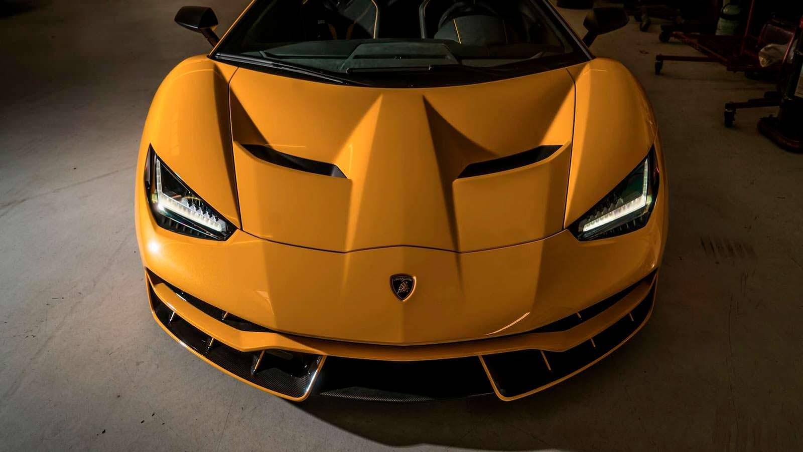 Дизайн передней части Lamborghini Centenario