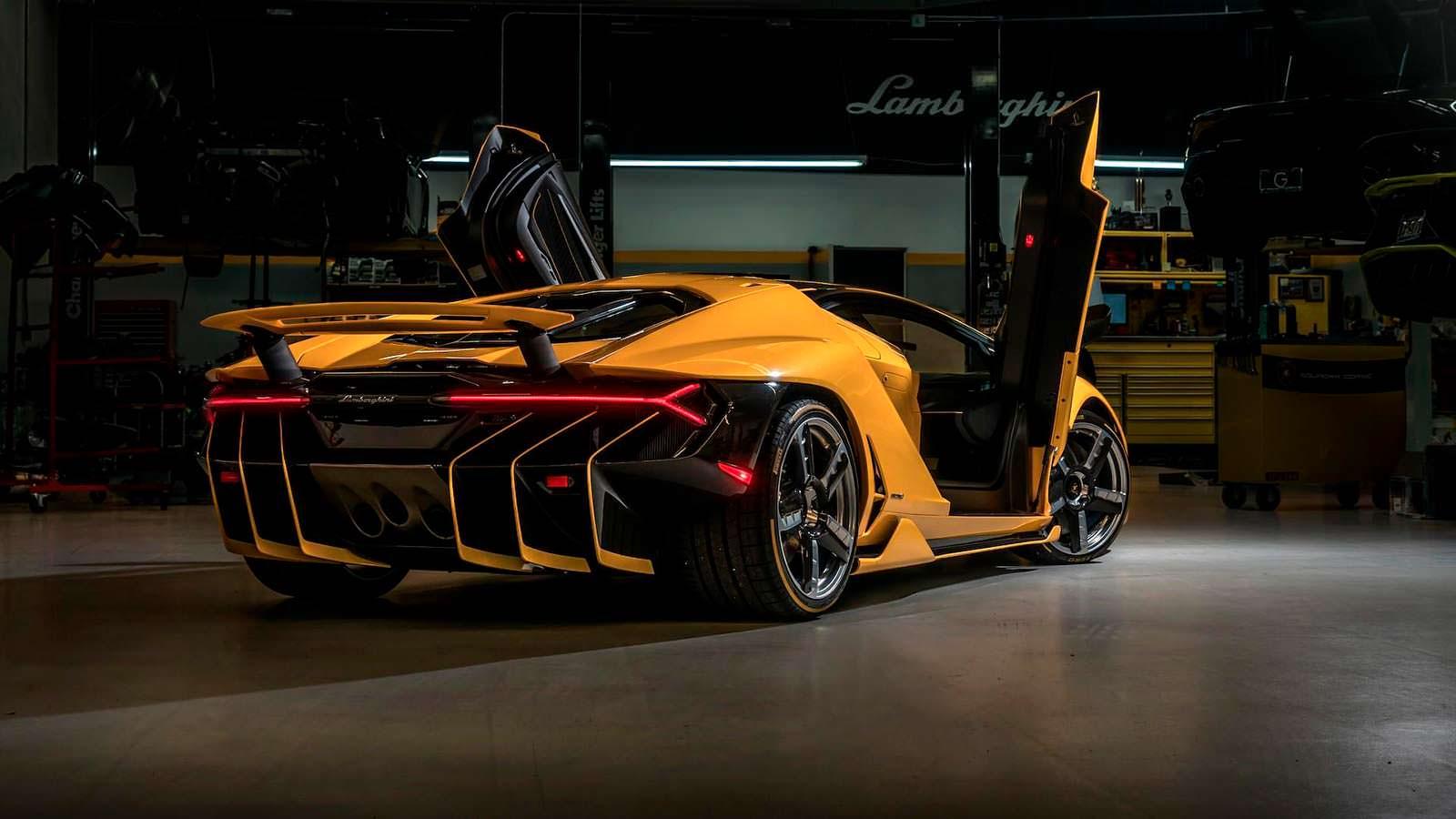 Lamborghini Centenario. Дизайн задней части