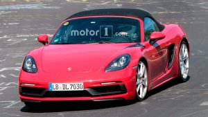 Новый Porsche 718 Boxster GTS на тестах