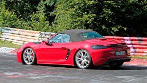 Шпионские фото Porsche 718 Boxster GTS
