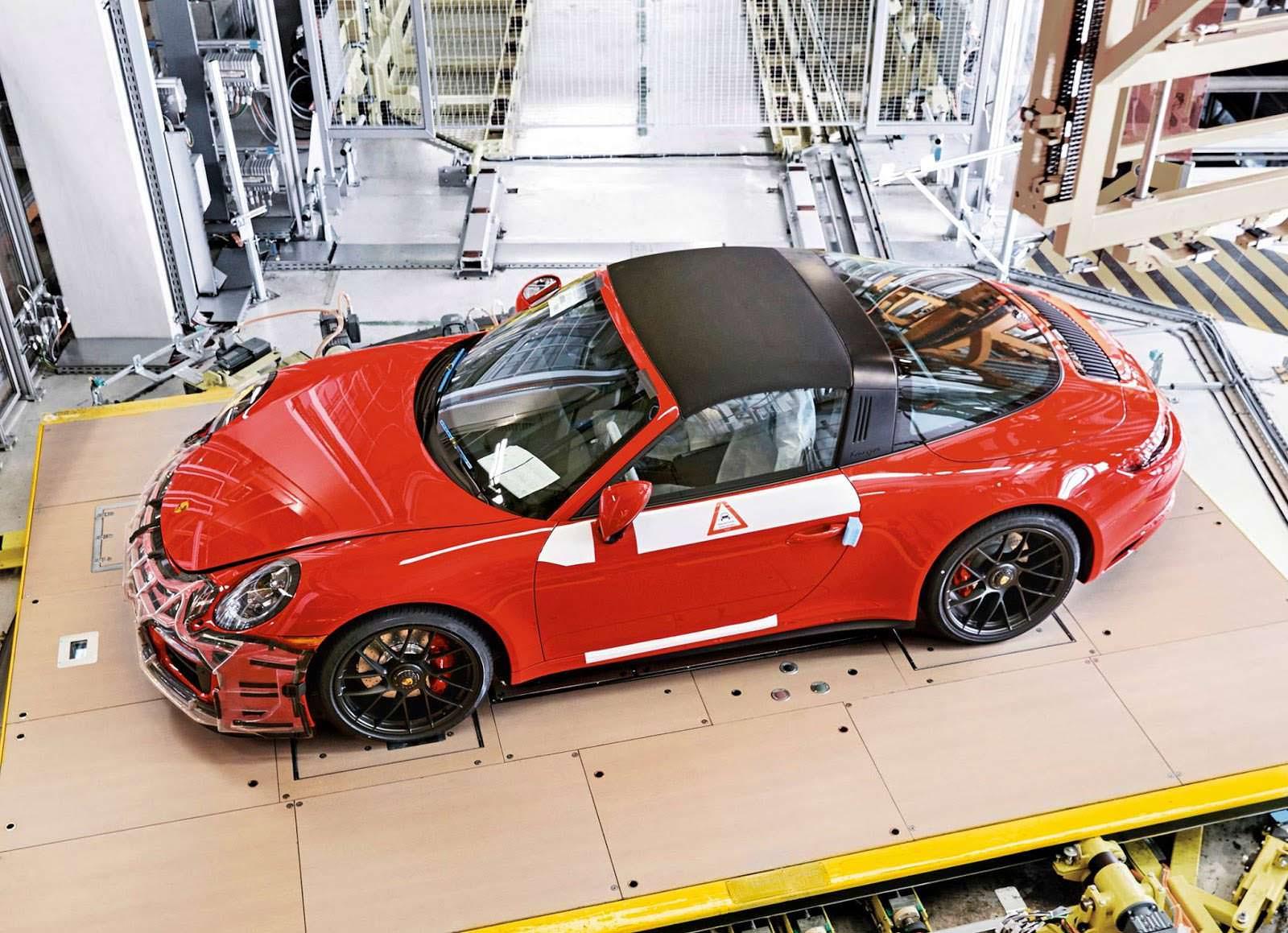 Фото на заводе Porsche 911 Targa 4 GTS