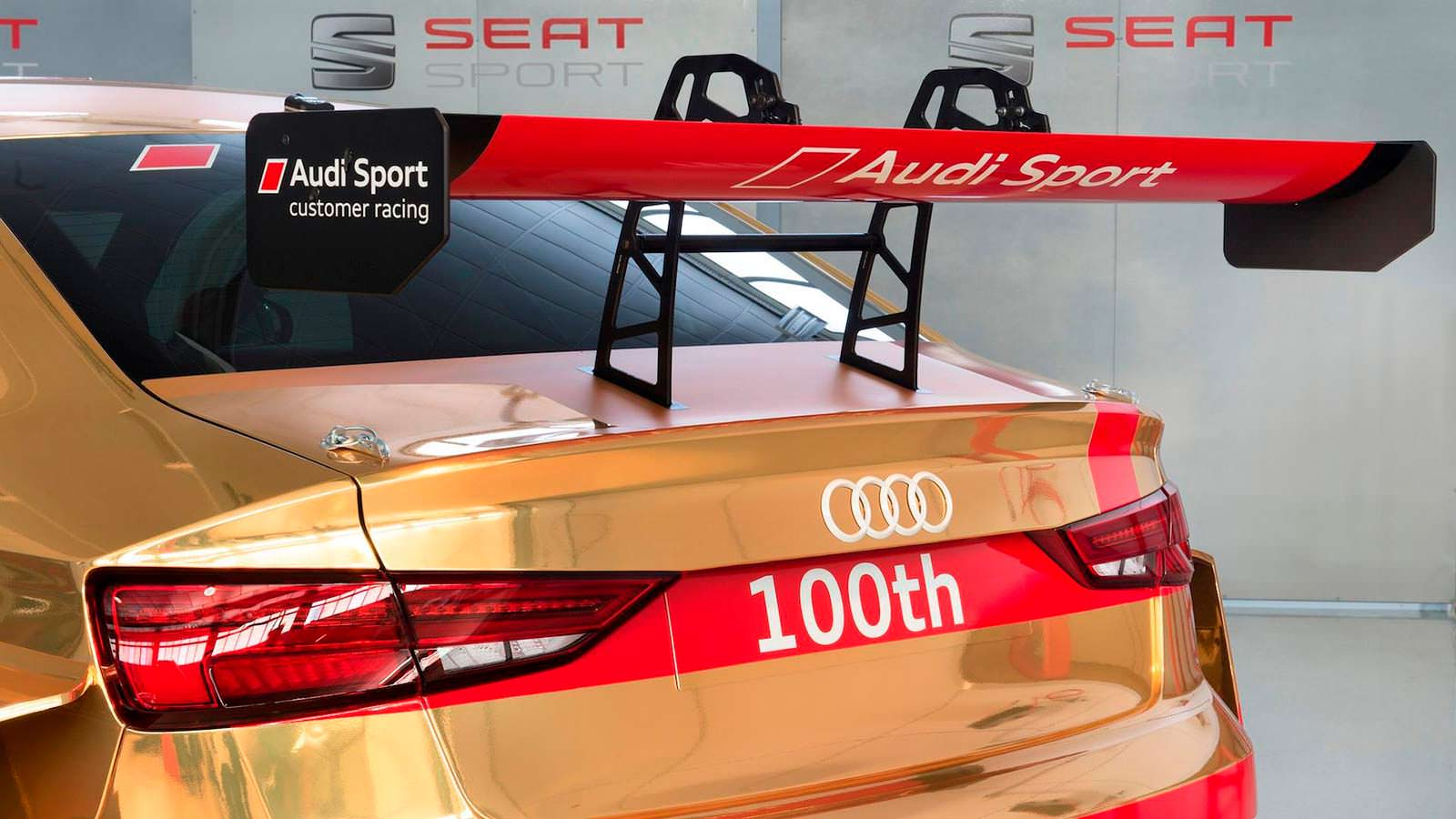Спойлер на багажнике Audi RS3 LMS от Audi Sport