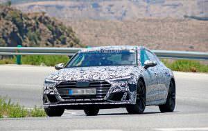Шпионские фото Audi S7 Sportback нового поколения в камуфляже