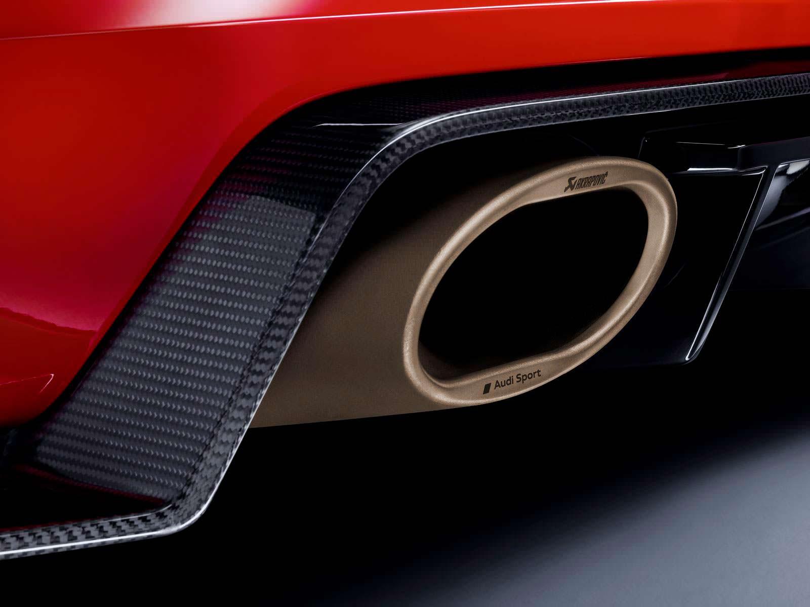Матовые золотистые выхлопные наконечники Audi TT RS