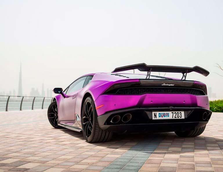 Фиолетовый Lamborghini Huracan Razmig от RevoZport