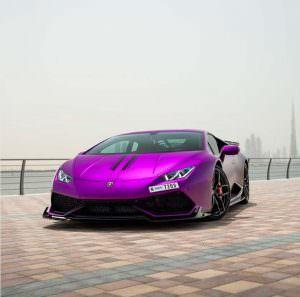 Пурпурный Lamborghini Huracan Razmig от RevoZport