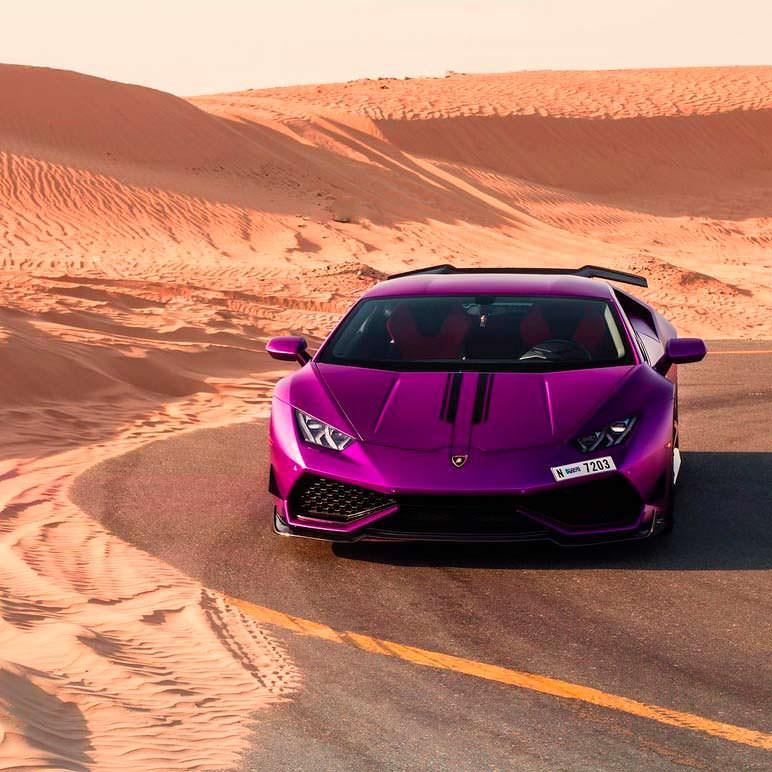 Фиолетовый Lamborghini Huracan Razmig от RevoZport в Дубае